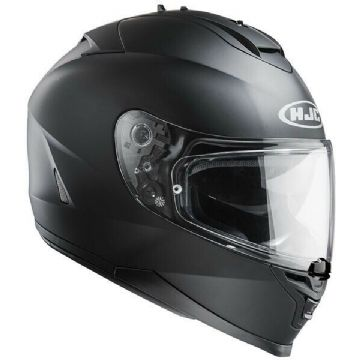 HJC IS-17 Plain Matt Black Full Face Motorcycle Motorbike Helmet - Free Pinlock